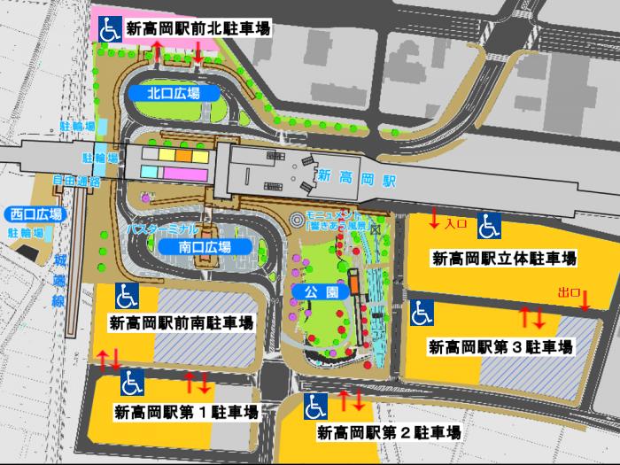 高岡駅⇔新高岡駅間 交通   -